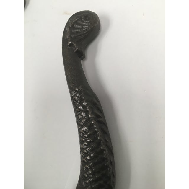 Antique Iron Koi Fish Coat Hooks - a Pair For Sale In Dallas - Image 6 of 10