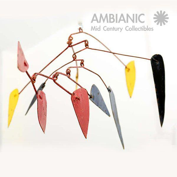 Mid-Century Modern Style Mobile Hanging Sculpture For Sale - Image 4 of 5