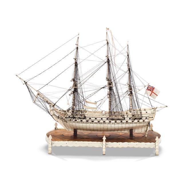 French Prisoner of War Ship Model, Le Héros For Sale In New Orleans - Image 6 of 6