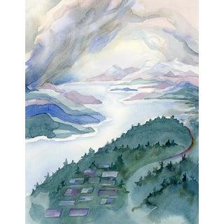 Winter Landing II Watercolor Painting For Sale