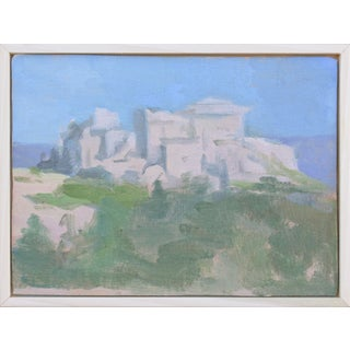 """Original Oil Painting """"Ancient City"""" by Michelle Farro For Sale"""