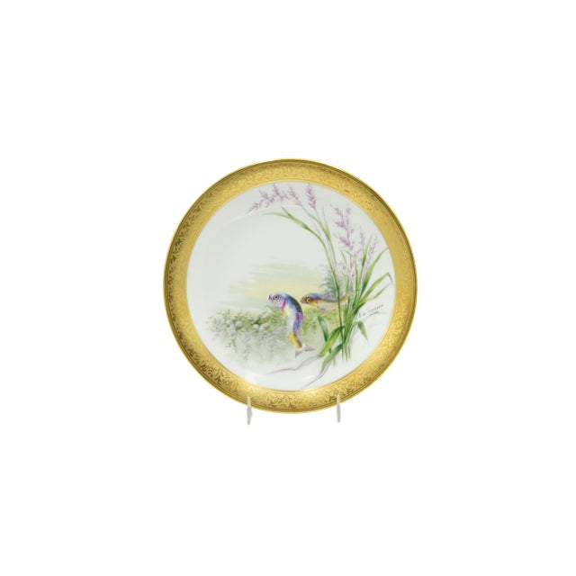 French Victorian Porcelain Dinner Plates - Set of 12 For Sale In New York - Image 6 of 11