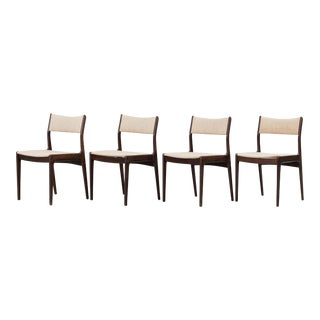 Johannes Andersen for Uldum Mobelfabrik Danish Modern Dining Chairs - Set of 4