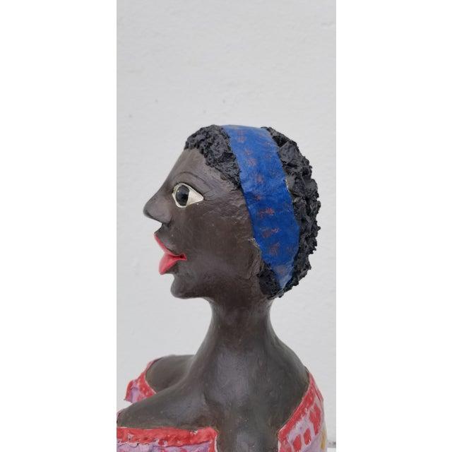 1980s Brazilian Female Sculpture For Sale - Image 10 of 13