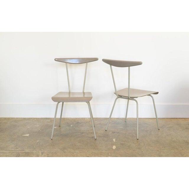 Pair of Light Gray Dressboy Dinner Chairs by Wim Reitveld c. 1950's
