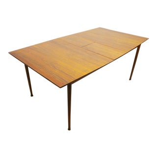 Mid Century Modern Walnut & Rosewood Expanding Dining Table With Butterfly Leaf by Frank and Son For Sale