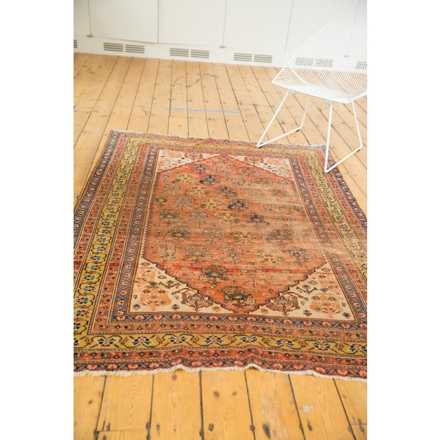 """Blue Antique Qashqai Rug - 4'11"""" X 6'4"""" For Sale - Image 8 of 13"""