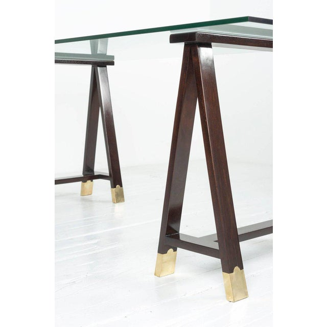 1960s Arturo Pani Trestle Table For Sale - Image 5 of 8