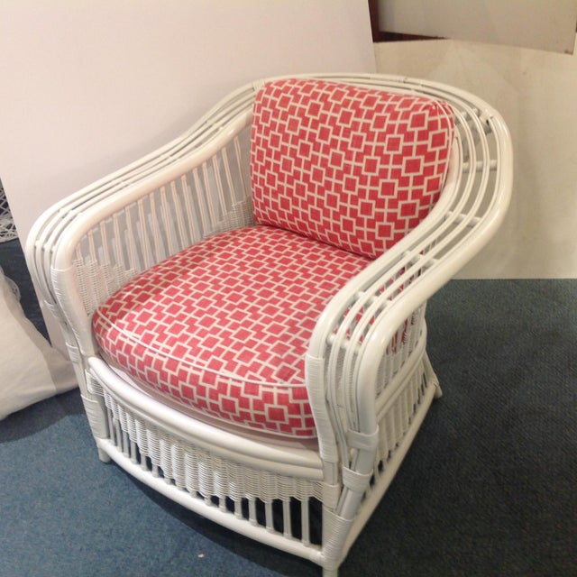 1960s 1960s Mid-Century Modern Ficks Reed Painted Verandah Side Chair For Sale - Image 5 of 6
