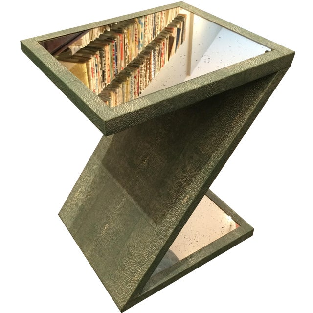 Z-Shaped Table with Antiqued Mirror - Image 1 of 5