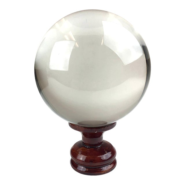 1970s X-Large Crystal Ball For Sale