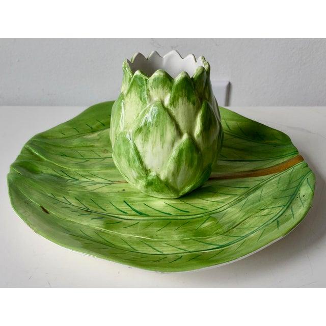 Este Ceramiche-Italian Faience Dish & Cup For Sale - Image 10 of 10
