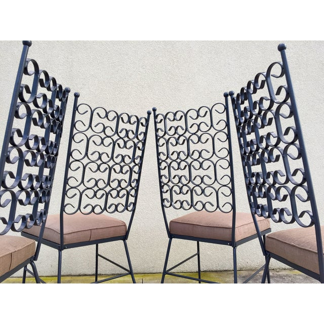 Black Arthur Umanoff Patio Dining Set For Sale - Image 8 of 11