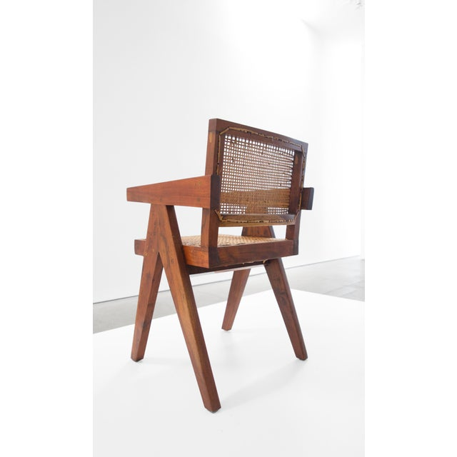 Pierre Jeanneret Teak Conference Chair From Chandigarh, India, C. 1952 - 1956 For Sale In Los Angeles - Image 6 of 10