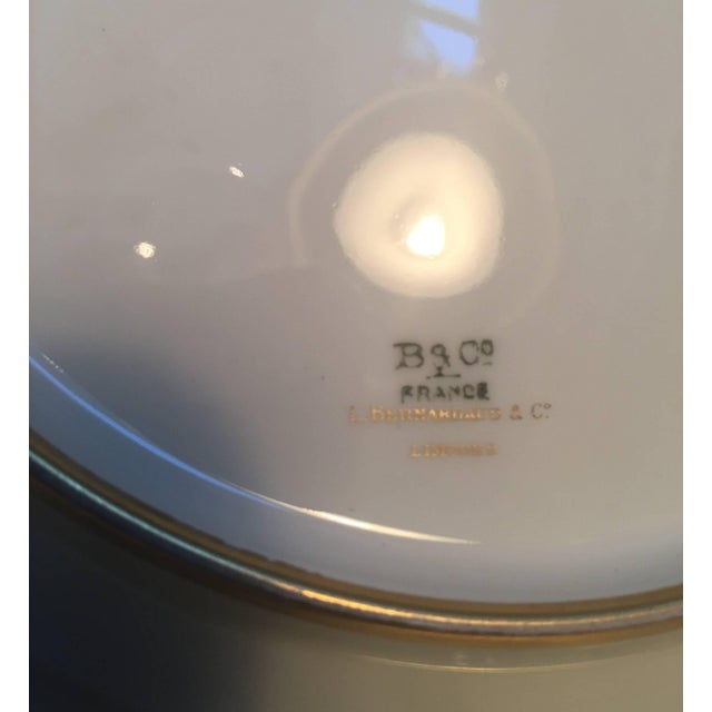 French French Gold Encrusted Dinner Plates - Set of 8 For Sale - Image 3 of 5