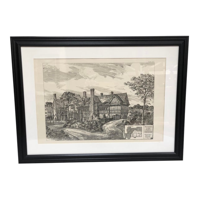 1893 Warnham Lodge Architectural Drawing For Sale