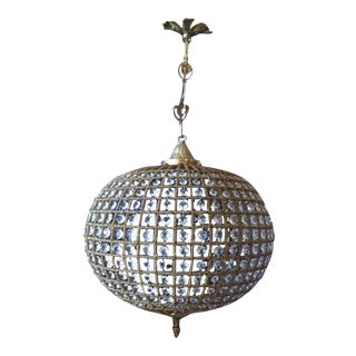 French Louis XVI Style Chandelier Gold Sphere