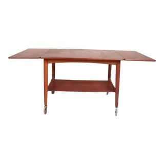Vintage Modern Hans Wegner for Andreas Tuck Drop-Leaf Side Table For Sale