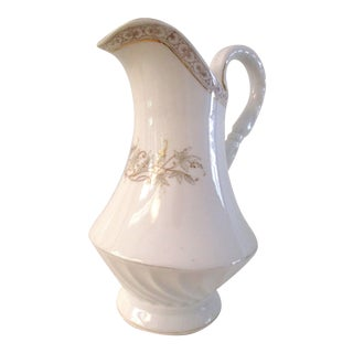 1920s White & Gold Porcelain Coffee Pot For Sale