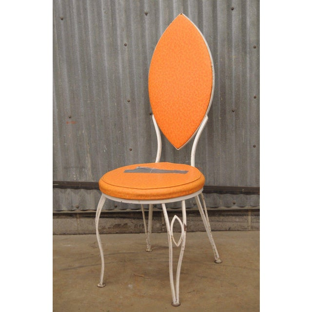 Vintage Wrought Iron Patio Side Chair For Sale - Image 9 of 9