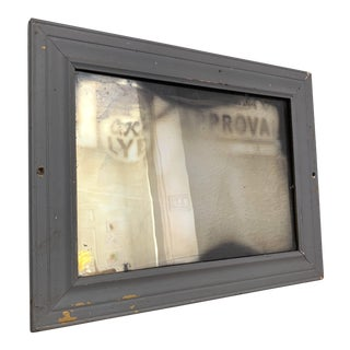 Vintage Distressed Wall Mirror For Sale