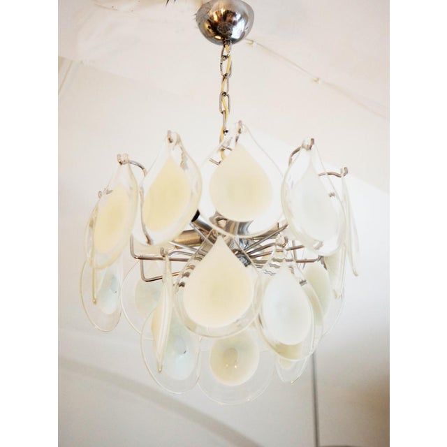 Art glass chandelier by Gino Vistosi for Venini For Sale - Image 11 of 11