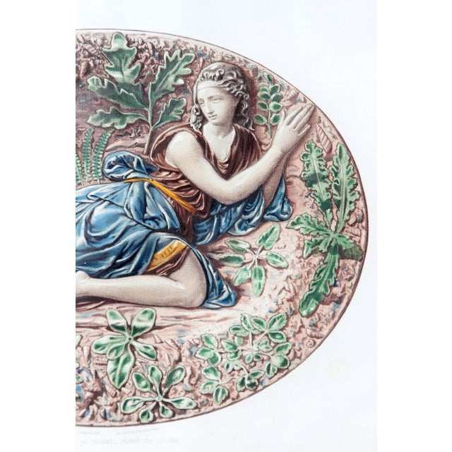 Baroque Set of Six (6) Hand-Colored Palissy Ware Lithographs by Rose-Joseph Lemercier For Sale - Image 3 of 10