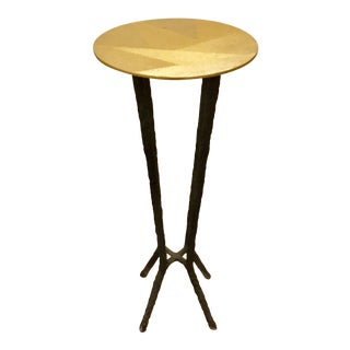 Art Deco Currey & Co. Iron Drinks Table For Sale