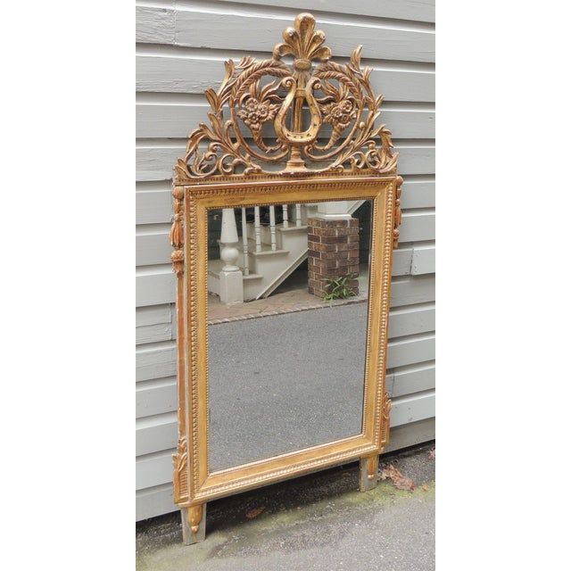 Giltwood Late 18th C Italian Neoclassical Mirror For Sale - Image 7 of 8