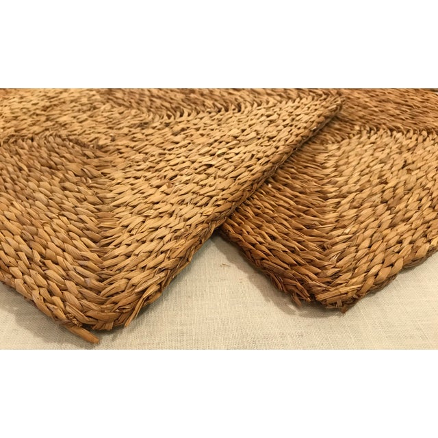 Vintage Woven Straw Placemats- Set of 4 For Sale In Dallas - Image 6 of 7