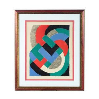 """Sonia Delaunay """"Rythme Couleur"""" 1969 Original Lithograph"""