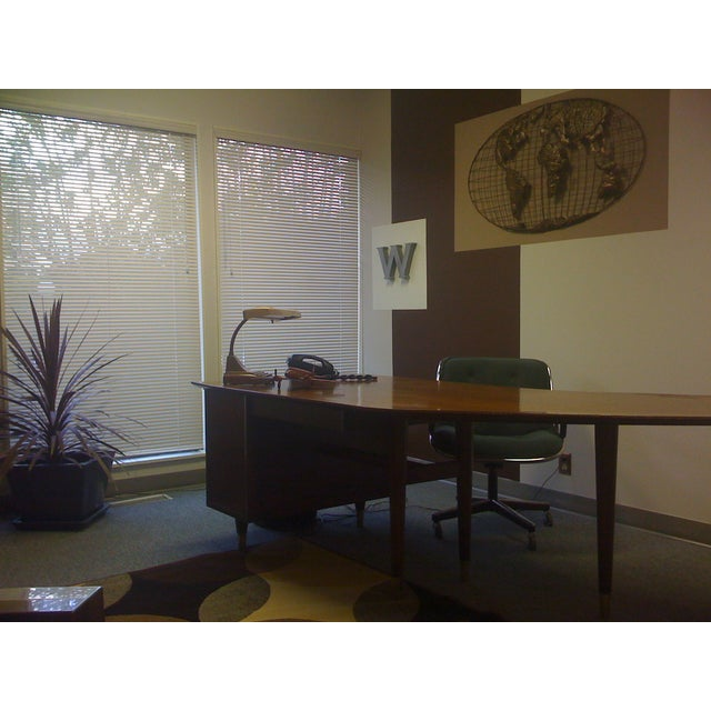 Standard Mid Century Boomerang Desk For Sale In San Francisco - Image 6 of 7