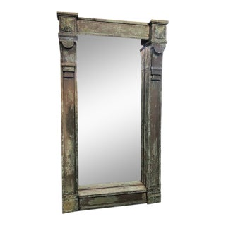 Antique Patina Wall Mirror For Sale