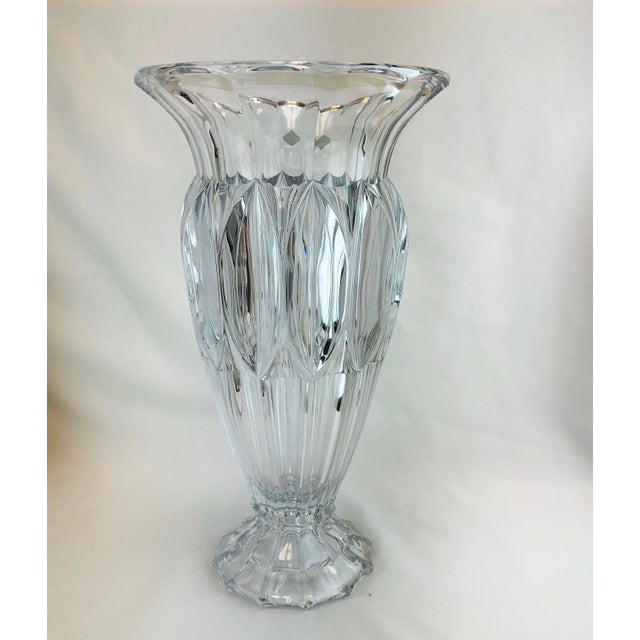 American Classical Shannon Crystal Fluted Vase For Sale - Image 3 of 10