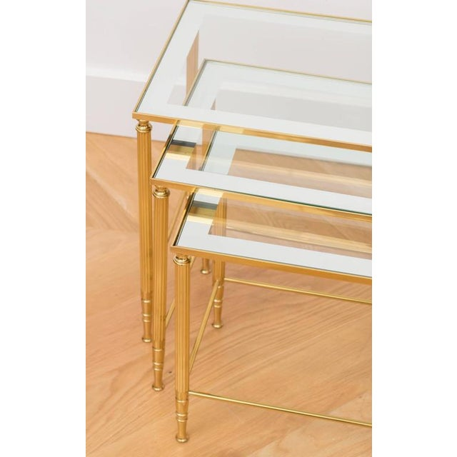 Italian Brass Nesting Tables - Set of 3 For Sale - Image 4 of 6