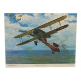 "Image of Original Best of Hubbell Aircraft Print ""A Double for Rickenbacker"" by Charles H. Hubbell, 1970 For Sale"