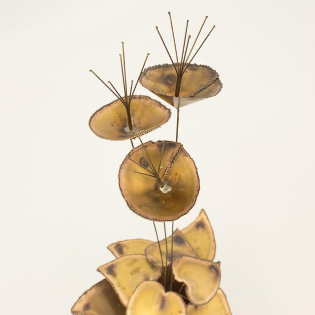 1960s Curtis Jere Mid-Century Brass Sculpture For Sale - Image 5 of 6