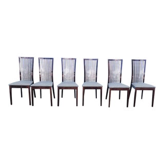 Vintage Mid Century Calligaris Dining Chairs- Set of 6 For Sale