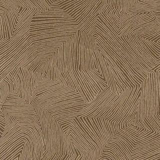 Sample - Schumacher Labyrinth Metallic Wallpaper in Espresso For Sale