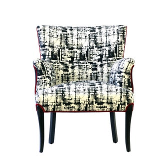 """Black & White Upholstered """"Metro"""" Armchair Preview"""