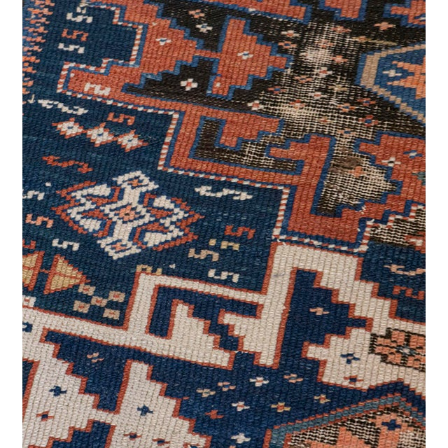 Handwoven Antique Wool Caucasian Rug For Sale In Los Angeles - Image 6 of 8