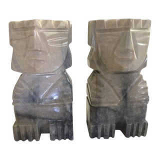 Bohemian Tribal Stone Bookends - a Pair For Sale