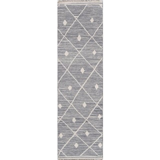"Erin Gates by Momeni Thompson Appleton Grey Runner - 2'3"" X 8' For Sale"