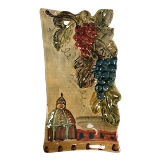 Vintage Italian Hand-Painted Wall Plate For Sale
