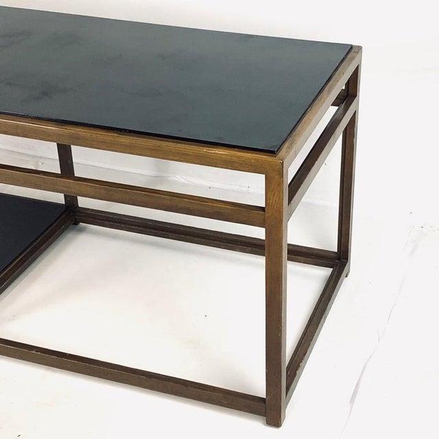 Mid-Century Modern Edward Wormley for Dunbar Black Micarta & Ash Model 5403 End Table W/ Shelf For Sale - Image 3 of 8