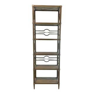 Ambella Home Modern Gray Wood Spindle Etagere For Sale