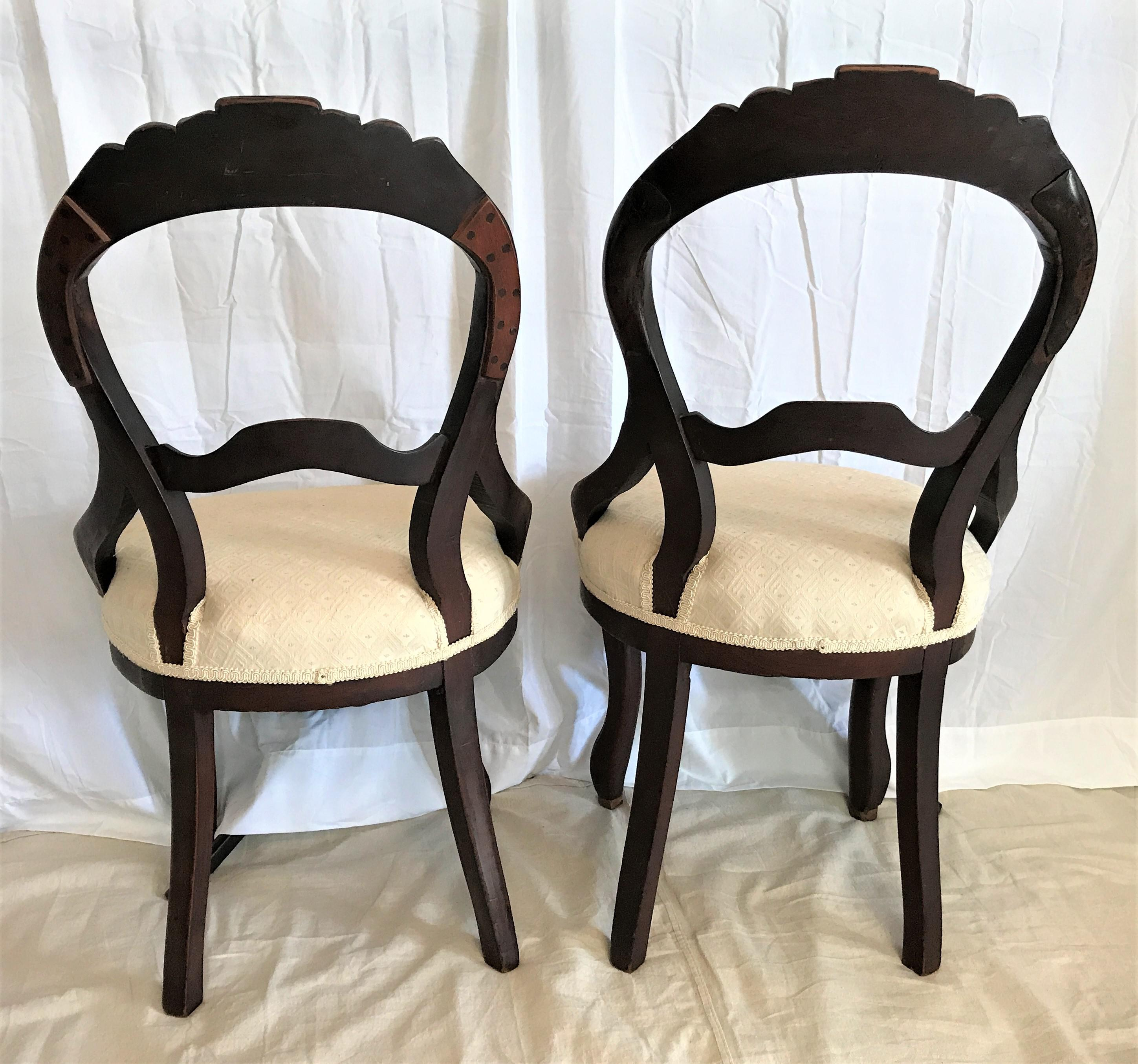 Merveilleux Louis XV Style Balloon Back Chairs Ca. 1850   A Pair   Image 5 Of
