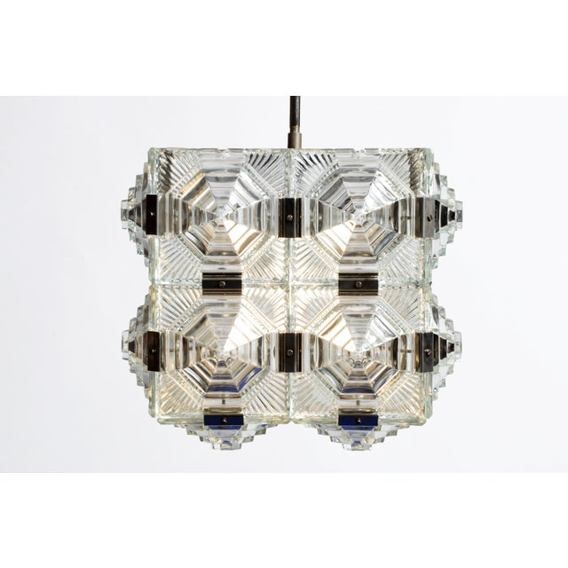 Czech Cast Glass Ceiling Lamp For Sale - Image 13 of 13