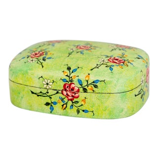Lacquered Papier Mache Box From India For Sale