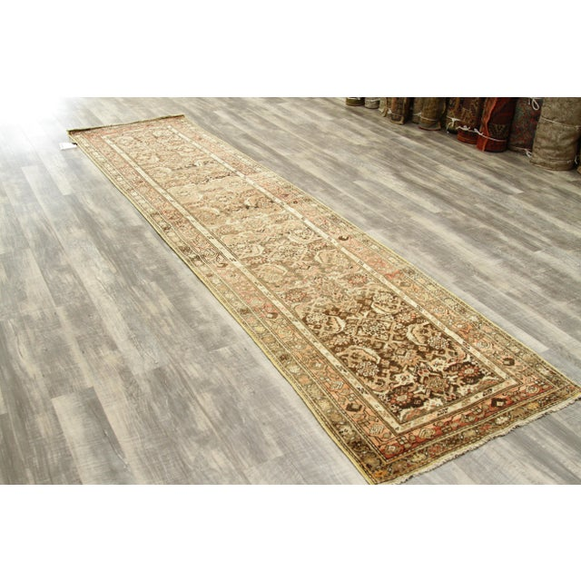 1930s Vintage Persian Zanjan Style Rug - 3′2″ × 12′9″ For Sale In Dallas - Image 6 of 10